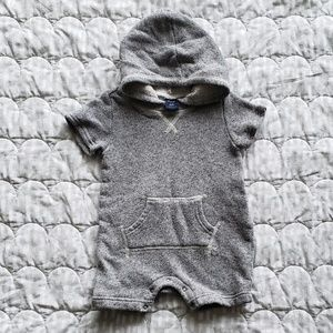 GAP sweatshirt hooded romper baby boy
